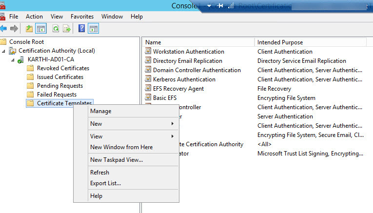 Part 4 – Setup Ca Server And Deploy Pki(Public Key pertaining to Best Workstation Authentication Certificate Template