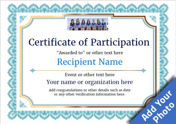 Participation Certificate Templates - Free, Printable, Add in Certificate Of Participation Template Pdf