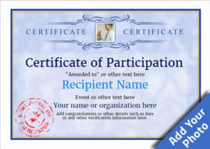 Participation Certificate Templates – Free, Printable, Add in Certificate Of Participation Template Pdf