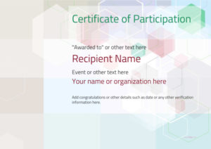 Participation Certificate Templates – Free, Printable, Add in Participation Certificate Templates Free Printable