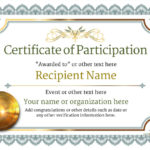 Participation Certificate Templates – Free, Printable, Add Inside Fresh Certificate Of Participation Word Template