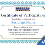 Participation Certificate Templates – Free, Printable, Add Pertaining To Templates For Certificates Of Participation