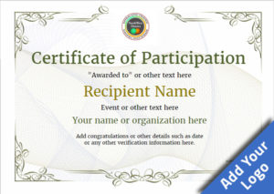 Participation Certificate Templates – Free, Printable, Add with Participation Certificate Templates Free Download