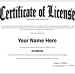 Pastor License Certificate Template - Google Search in Certificate Of License Template