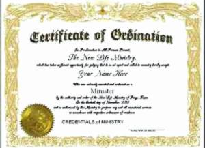 Pastor Ordination Certificate Template Inspirational intended for Ordination Certificate Template