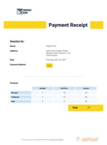Payment Receipt Template – Pdf Templates | Jotform for Certificate Of Payment Template
