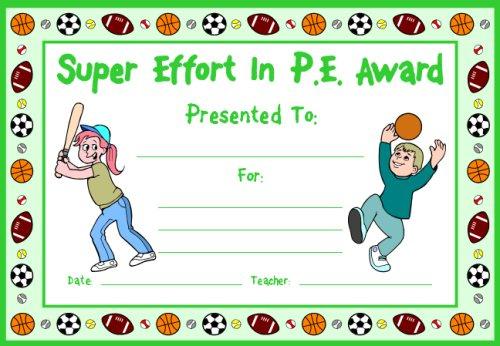 Pe Award Certificates in Pe Certificate Templates