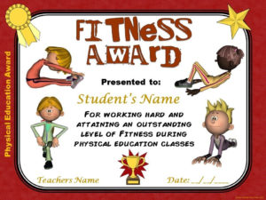 Pe Awards- 15 Physical Education Certificates | Education throughout Best Pe Certificate Templates