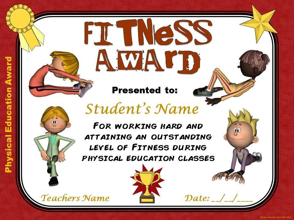 Pe Awards- 15 Physical Education Certificates | Education with Physical Education Certificate Template Editable
