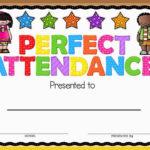 Perfect Attendance Award   Attendance Certificate, Perfect Pertaining To Perfect Attendance Certificate Template Free