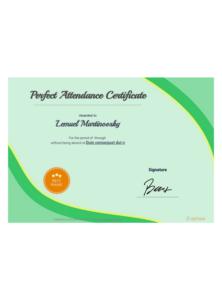Perfect Attendance Award Certificate Template – Pdf intended for Perfect Attendance Certificate Template Editable