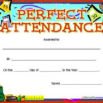 Perfect Attendance Certificate Template | Free Printable With Regard To Perfect Attendance Certificate Template Editable