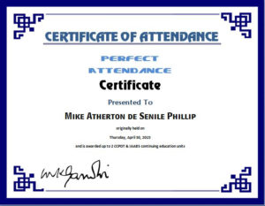 Perfect Attendance Certificate Template | Word & Excel Templates pertaining to Quality Attendance Certificate Template Word