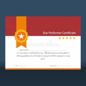 Performer Certificate Stock Illustrations – 28 Performer with regard to Quality Star Performer Certificate Templates