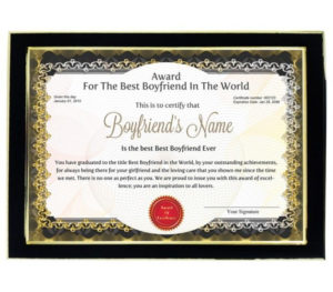 Personalized Award Certificate For Worlds Best Boyfriend with New Best Boyfriend Certificate Template