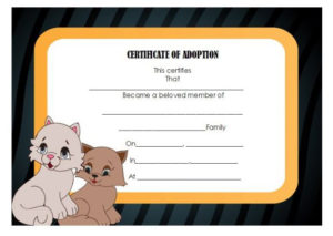Pet Adoption Certificate Template: 10 Creative And Fun intended for New Pet Adoption Certificate Template Free 23 Designs