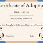 Pet Adoption Certificate Template: 10 Creative And Fun Intended For Pet Adoption Certificate Editable Templates