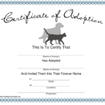 Pet Adoption Certificate Template Download Printable Pdf For Quality Dog Adoption Certificate Template