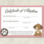 Pet Adoption Certificate Template, Fake Adoption Papers For With Regard To Quality Dog Adoption Certificate Template