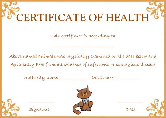 Pet Health Certificate Template: 9 Word Templates To inside Quality Dog Vaccination Certificate Template