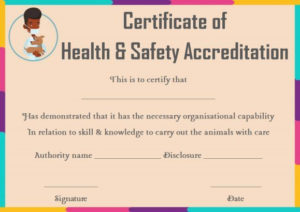 Pet Health Certificate Template | Certificate Templates, Pet throughout Dog Obedience Certificate Template Free 8 Docs
