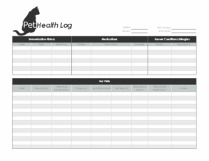 Pet Health Log pertaining to Quality Dog Vaccination Certificate Template