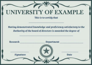 Phd Certificate Template Free | Certificate Templates throughout Fresh Doctorate Certificate Template