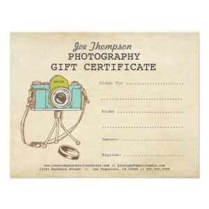 Photographer Photography Gift Certificate Template | Zazzle regarding Photoshoot Gift Certificate Template
