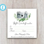 Photography Gift Certificate Template, Client Gift Card, Gift Voucher  Template, Gift Certificate Printable, Gift Card Download For Customers With Printable Photography Gift Certificate Template
