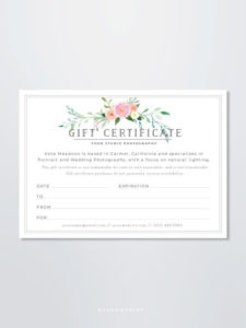 Photography Gift Certificate Template – Gift Card Template inside Photoshoot Gift Certificate Template