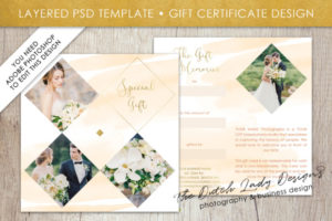 Photography Gift Certificate Template – Photo Gift Card – Layered Design #41 throughout Quality Photoshoot Gift Certificate Template