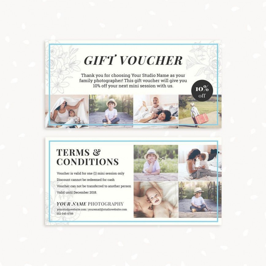 Photography Session Gift Certificate Template ~ Addictionary inside Free Photography Gift Certificate Template