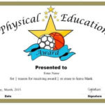 Physical Education Awards And Certificates - Free throughout Physical Education Certificate Template Editable