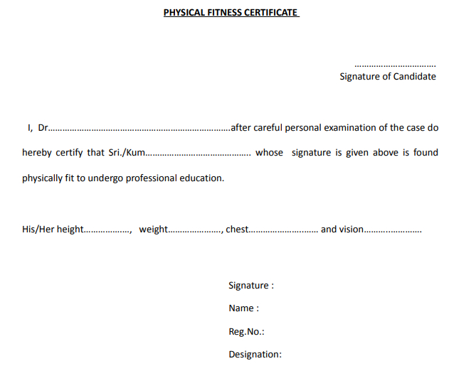 Physical Fitness Certificate. Physical Fitness… | in Physical Fitness Certificate Templates