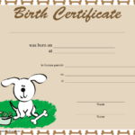Pin On Animals With Regard To Puppy Birth Certificate Free Printable 8 Ideas