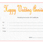 Pin On Anniversary Gift Certificate Template Free inside Quality Anniversary Gift Certificate