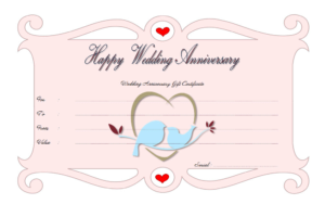 Pin On Anniversary Gift Certificate Template Free inside Unique Anniversary Gift Certificate Template Free