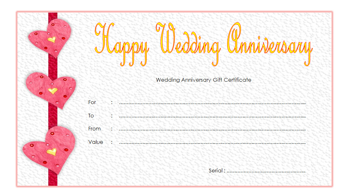 Pin On Anniversary Gift Certificate Template Free with Anniversary Certificate Template Free