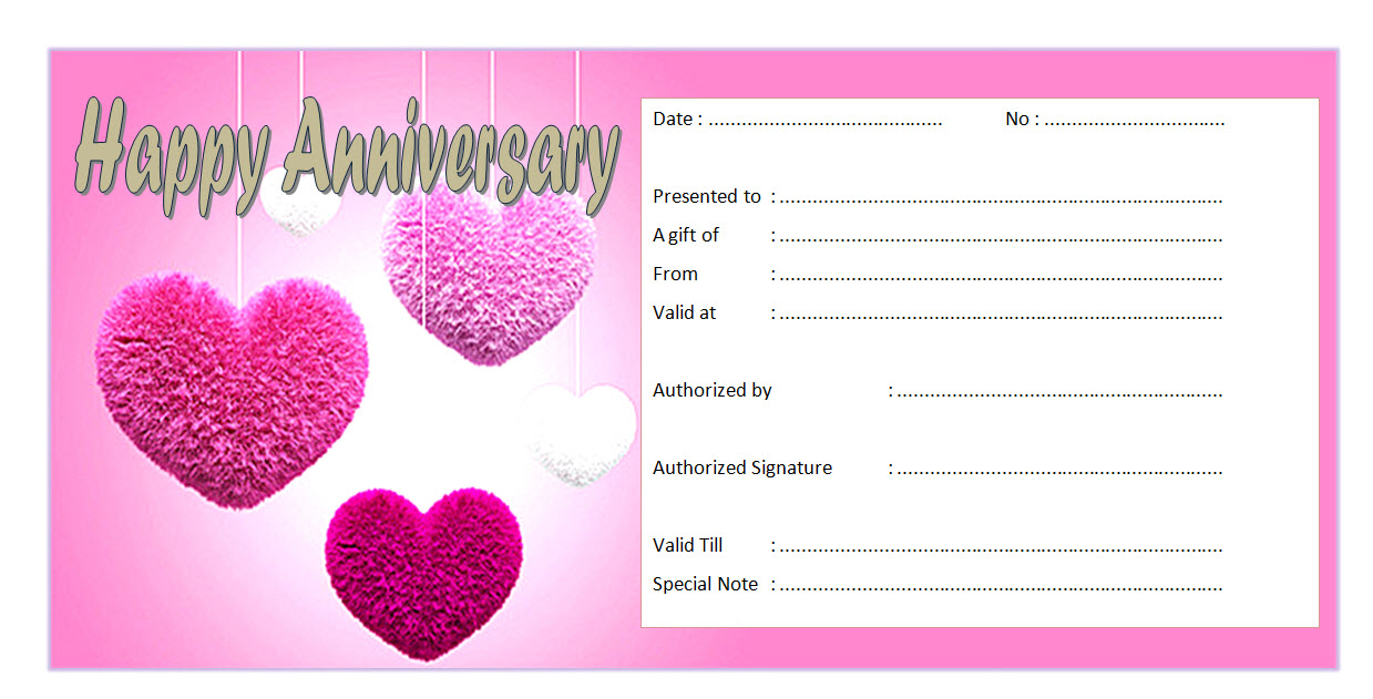 Pin On Anniversary Gift Certificate Template Free within Quality Anniversary Gift Certificate