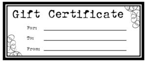 Pin On Ar Party Crafts with Homemade Christmas Gift Certificates Templates