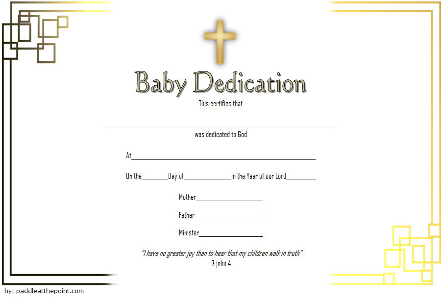 Pin On Baby Dedication Certificate Printable Free Within Blessing Certificate Template Free 7 New Concepts
