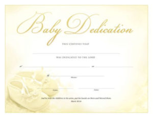 Pin On Baby Dedication in Baby Dedication Certificate Template