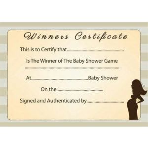Pin On Baby for Baby Shower Game Winner Certificate Templates