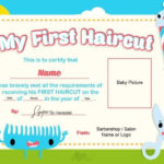 Pin On Baby'S 1St Haircut Certificates with regard to First Haircut Certificate
