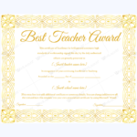 Pin On Best Teacher Award Certificate Templates For Best Teacher Certificate Templates