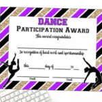 Pin On Brooklin Party With Regard To Quality Dance Award Certificate Templates