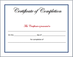 Pin On Certificate Design intended for Unique Certificate Of Completion Free Template Word