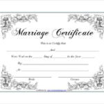 Pin On Certificate Design with Quality Certificate Of Marriage Template