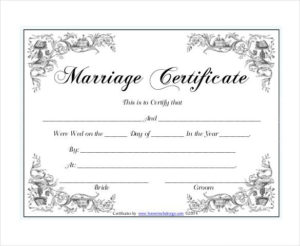 Pin On Certificate Design with Unique Marriage Certificate Editable Templates