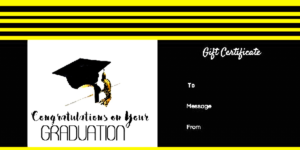 Pin On Certificate Template within Unique Graduation Gift Certificate Template Free